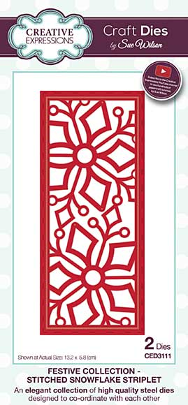 Sue Wilson Festive Collection - Stitched Snowflake Striplet