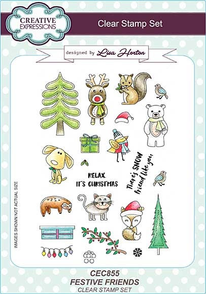 Festive Friends A5 Clear Stamp Set