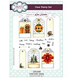 Festive Tags A5 Clear Stamp Set