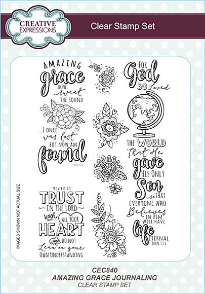 Amazing Grace Journaling A5 Clear Stamp Set