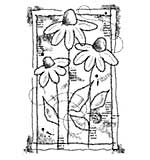 Woodware Clear Singles - Sketched Daisies [WW1801]