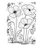 SO: Woodware Clear Singles - Stitched Poppies [WW1801]