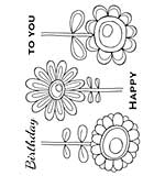 SO: Woodware Clear Magic - Bold Blooms - Daisy Bunch [WW1801]