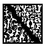 SO: Woodware Stencil - Numbers & Letters [WW1801]