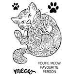 SO: Woodware Clear Magic - Decorative Cat [WW1801]
