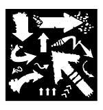 SO: Woodware Stencil - Arrows [WW1801]