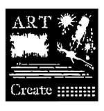 SO: Woodware Stencil - Art [WW1801]