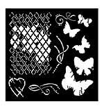 SO: Woodware Stencil - Broken Diamonds [WW1801]