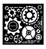 SO: Woodware Stencil - Cogs [WW1801]