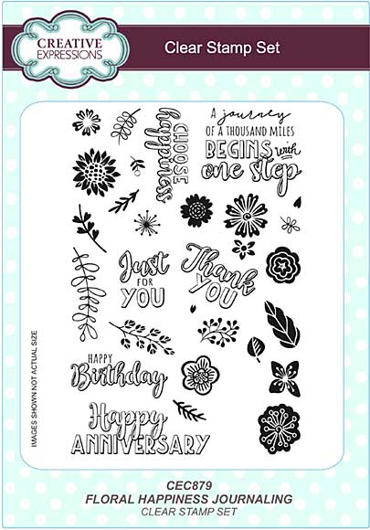 Floral Happiness Journaling A5 Clear Stamp Set