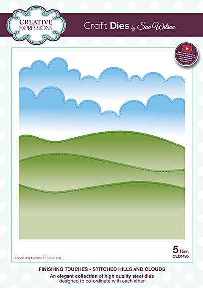 SO: Finishing Touches Collection Stitched Hills and Clouds Die