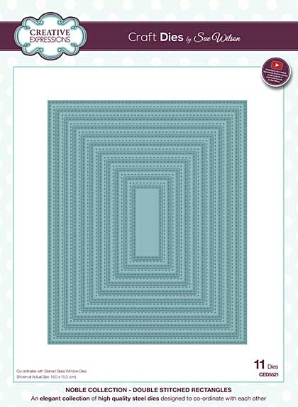 Sue Wilson - Noble Collection Double Stitched Rectangles Die
