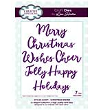 Stylish Script Collection Christmas Wishes Craft Die