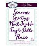 SO: Stylish Script Collection Seasons Greetings Craft Die