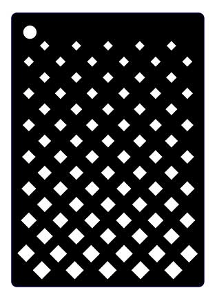 SO: Creative Expressions Mini Stencil Graduated Grid