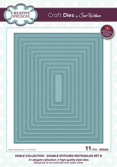 Sue Wilson - Noble Double Stitched Rectangles Set B