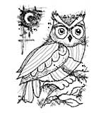 Woodware Clear Singles Stamp - Midnight Owl [WW1804]