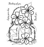Woodware Clear Singles Stamp - Small Daisy Jar [WW1804]