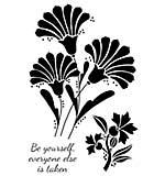 Woodware Clear Singles Stamp - Fan Flowers [WW1804]