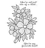 Woodware Clear Singles Stamp - Bold Blooms Fiona [WW1804]