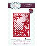 Sue Wilson Festive Collection Lattice Poinsettia Background [SW1806]
