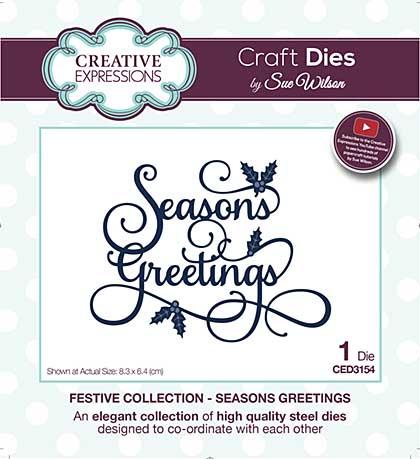 Sue Wilson Festive Collection Seasons Greetings [SW1806]