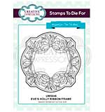 SO: Sue Wilson Stamps to Die for - Eve's Holly Ribbon Frame [SW1806]