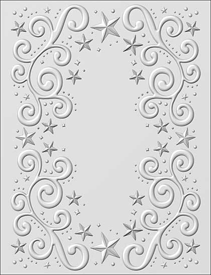 SO: 3D Embossing Folder - Twinkle Stars by Sue Wilson