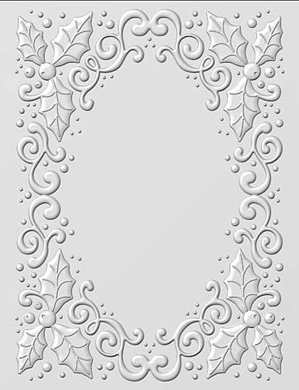 SO: 3D Embossing Folder - Holly Swirls by Sue Wilson