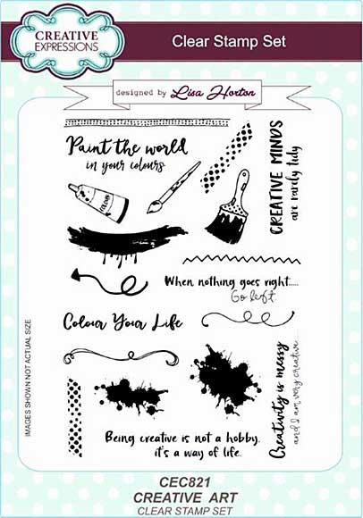 Lisa Horton Clear Stamp Set A5 - Creative Art