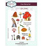 Lisa Horton Clear Stamp Set A5 - Mushroom Village