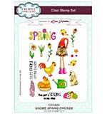 SO: Lisa Horton Clear Stamp Set A5 - Gnome Spring Chicken