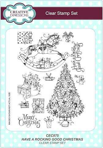 Clear Stamp Set - Have A Rocking Good Christmas A5