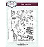 African Animals A5 Clear Stamp Set