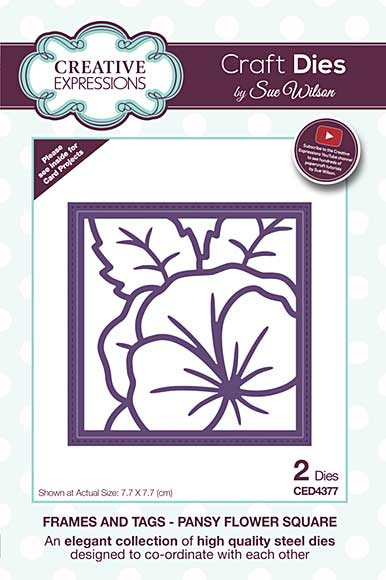 Frames and Tags Collection Pansy Flower Square