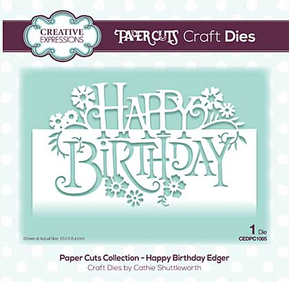 Paper Cuts Collection - Happy Birthday Edger