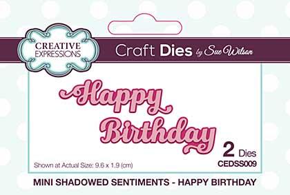 SO: Mini Shadowed Sentiments Happy Birthday