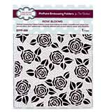 Emboss Folder Rose Blooms PinPoint 190mm x 145mm