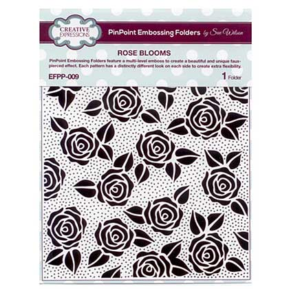 Emboss Folder Rose Blooms PinPoint 190mm x 145mm