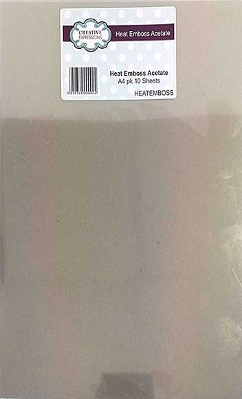 Creative Expressions Heat Embossable Acetate A4 (10 Sheets)
