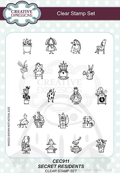 SO: Willowby Woods - Secret Residents A5 Clear Stamp Set