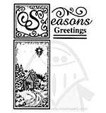 Seasons Greeting Pre Cut Stamp