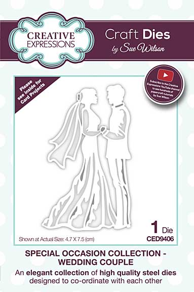 SO: Special Occasions Collection Wedding Couple Craft Die