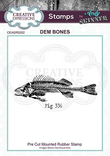CE Rubber Stamp by Andy Skinner Dem Bones
