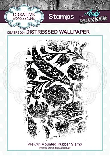 CE Rubber Stamp by Andy Skinner Distressed Wallpaper