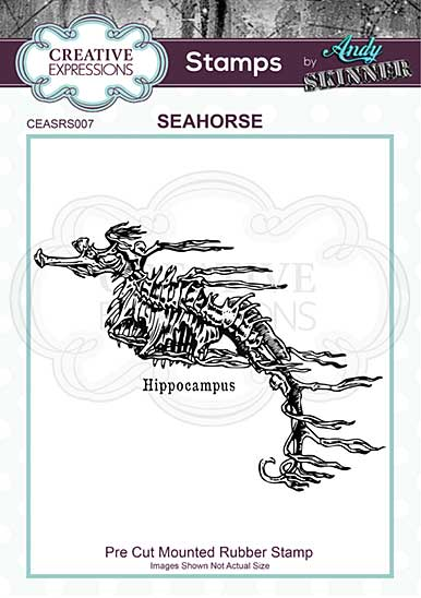 SO: CE Rubber Stamp by Andy Skinner Seahorse