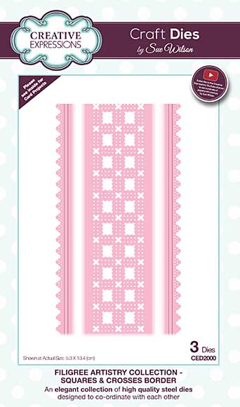 Filigree Artistry Collection Squares & Crosses Border Craft Die