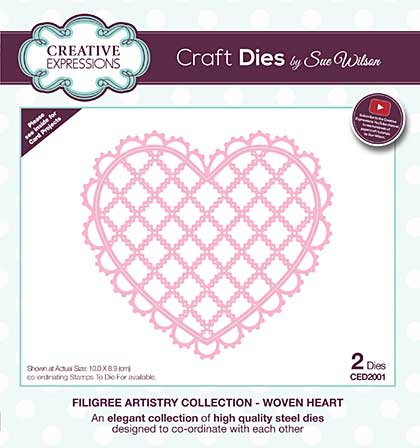 Filigree Artistry Collection Woven Heart Craft Die