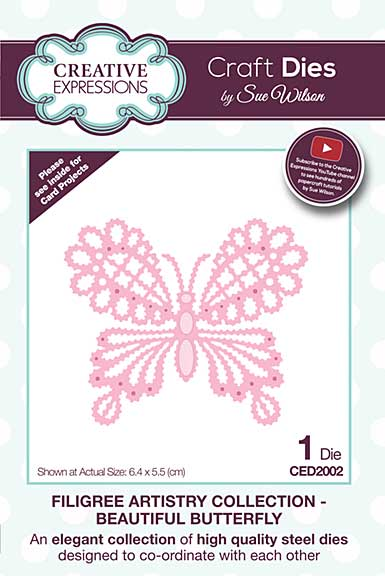 Filigree Artistry Collection Beautiful Butterfly Craft Die