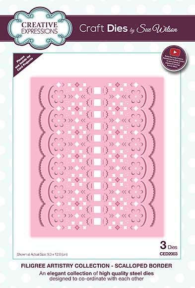 Filigree Artistry Collection Scalloped Border Craft Die